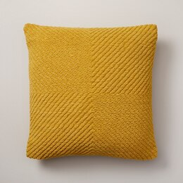 "OUI WOVEN CHENILLE PILLOW COVER HONEY 18"" X 18"""