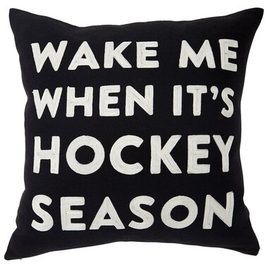 "EXPRESSIONS HOCKEY SEASON PILLOW COVER – 18"" X 18"""