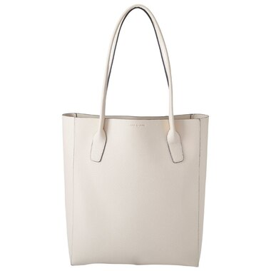 LOVE AND LORE NORTH-SOUTH PEBBLE TOTE IVORY
