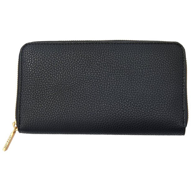 LOVE AND LORE AVA ZIP WALLET BLACK
