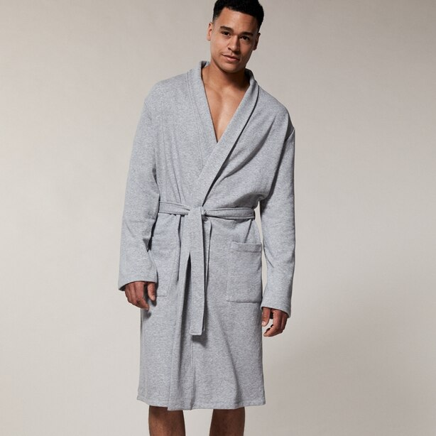 Indigo Essential Robe Heather Grey Small-Medium