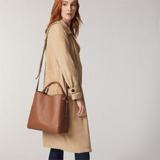 LOVE AND LORE BEATRICE TOP HANDLE TOTE COGNAC
