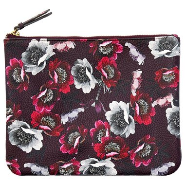 LOVE AND LORE LARGE POUCH SCATTER POPPY EGGPLANT