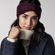 LOVE AND LORE REMY RIB HEADBAND PLUM
