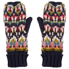 LOVE AND LORE FAB FAIR ISLE MITTENS BLACK