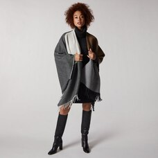 LOVE AND LORE COLOURBLOCK WRAP CAMEL & GREY