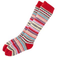 RAINBOW FAIR ISLE READING SOCKS™ RED