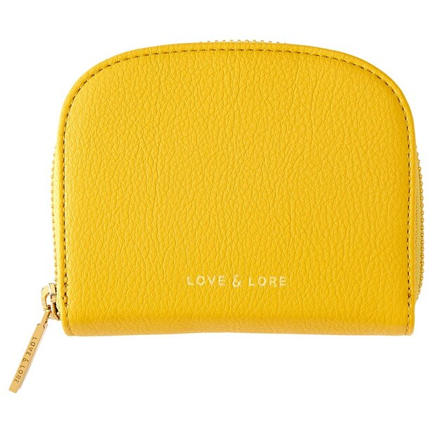 LOVE AND LORE COIN CARD CASE WITH MIRROR CITRON