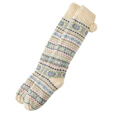 FAIR ISLE READING SOCKS™ OATMEAL HEATHER