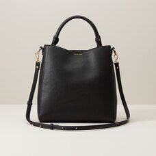 LOVE AND LORE BEATRICE TOP HANDLE HOBO BLACK