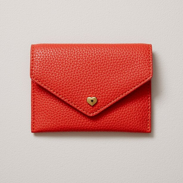 LOVE AND LORE HEART CARD CASE RED