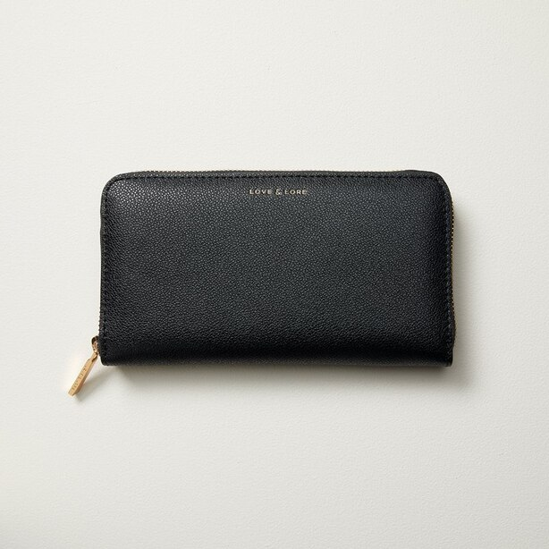 LOVE AND LORE AVA WALLET BLACK