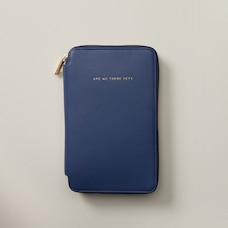 Love And Lore Family Travel Wallet Cobalt Lizard