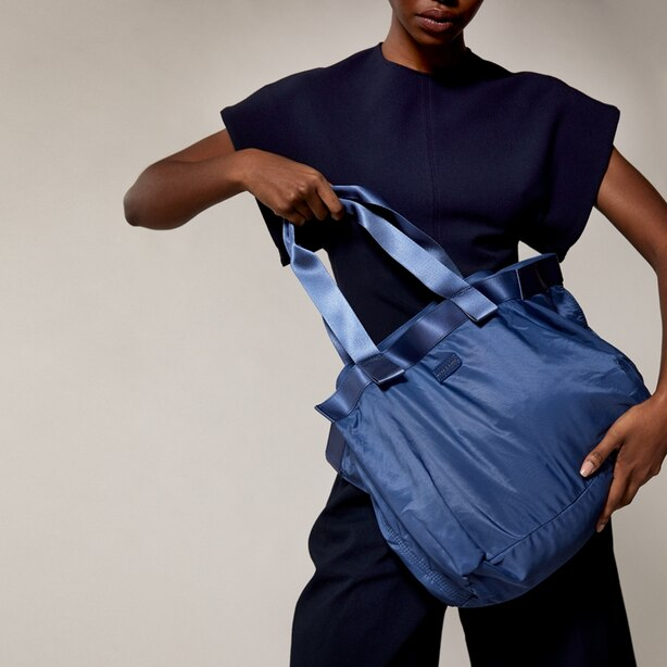 LOVE AND LORE PACKABLE TOTE BLUE
