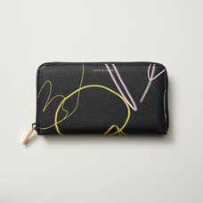 LOVE AND LORE AVA WALLET BLACK BOTANICAL