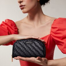 Love And Lore Woven Curved Wallet Black