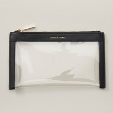 LOVE AND LORE CARRY-ON CLEAR POUCH BLACK