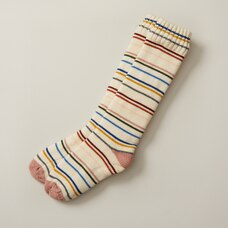 WEEKEND STRIPE READING SOCKS™ IVORY