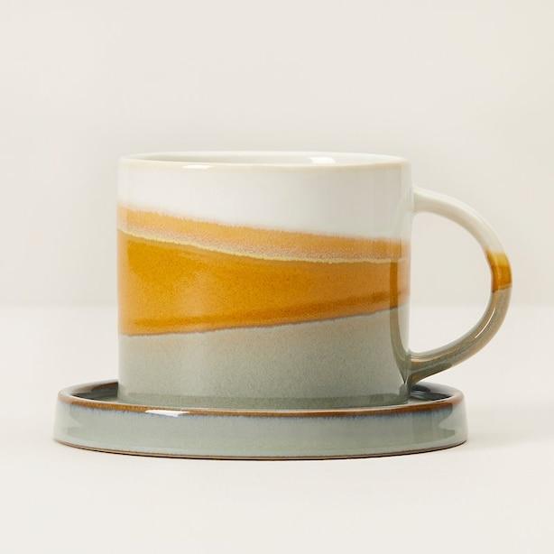 GOLDEN LIGHT DIPPED CERAMIC TEA SET