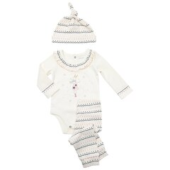 IndigoBaby 3 Piece - Onesie, Hat, and Pyjamas Reindeer Ice Dance 0 to 3 Months
