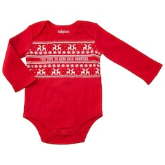 IndigoBaby Onesie Too Cute to Wear Ugly Sweaters 0 to 3 Months