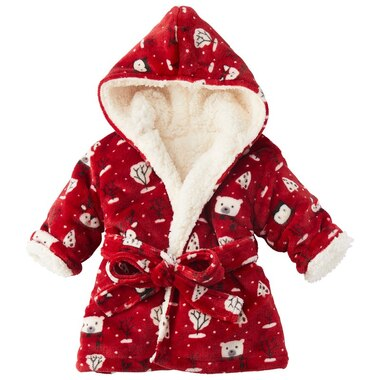 INDIGOBABY BABY ROBE WINTER FRIENDS RED 0 to 12 Months