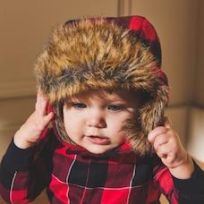 IndigoBaby Cabin Cozy Baby Hat - Size 6 - 12 Months