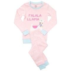 IndigoKids Pajama Set Festive Falala Llama Size 2, 1 to 2 Years