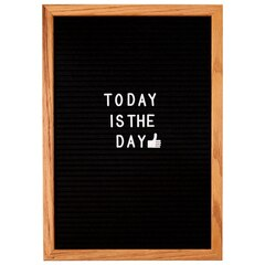 FELT LETTER BOARD - BLACK, MEDIUM