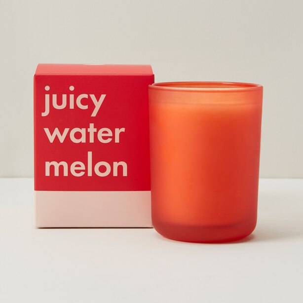 POURED GLASS CANDLE - JUICY WATERMELON