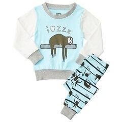 IndigoKids Pajama Set Cotton Spandex I Love Sleeping Sloth Size 2