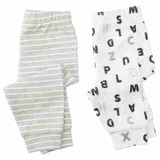 IndigoBaby Pants Letters 6 to 12 Months (Set of 2)