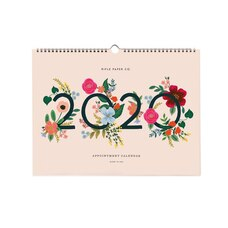 2020 12-Month Appointment Calendar Wild Rose