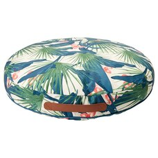 OUTDOOR ROUND POUF – TROPICAL PALMS