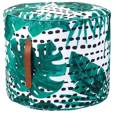 OUTDOOR STOOL POUF – DOT LEAF