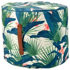 OUTDOOR STOOL POUF – TROPICAL PALMS