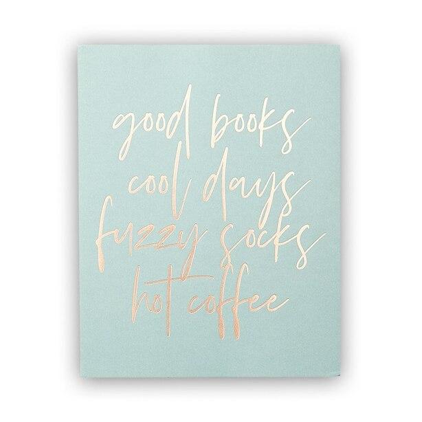 "GOOD BOOKS ART PRINT – 8"" x 10"""