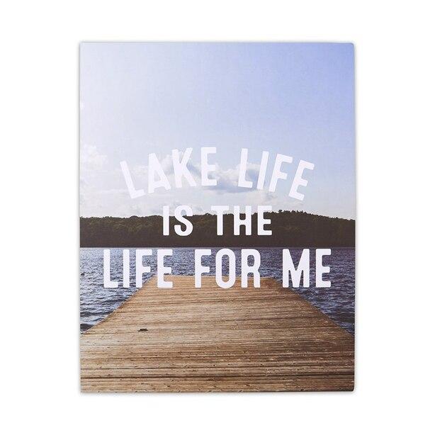 "PHOTOREAL ART PRINT LAKE LIFE 11"" X 14"""