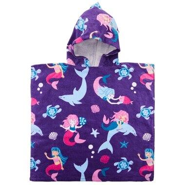 IndigoKids Poncho Towel Mermaids