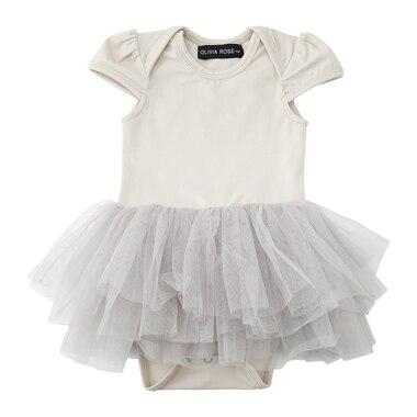 Olivia Rose® Onesie Tutu Dress Grey Cloud 3-6 Months