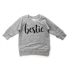 Posh & Cozy Crew Neck Sweater Bestie Grey Newborn-6 Months