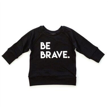 Posh & Cozy Crew Neck Sweater Be Brave Black Newborn-6 Months