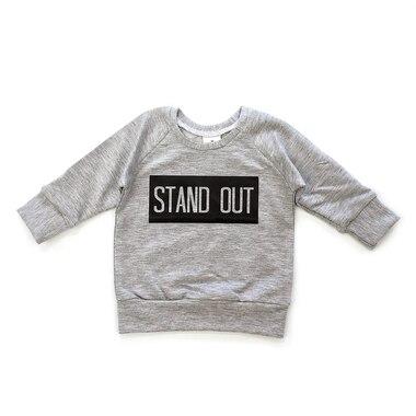 Posh & Cozy Crew Neck Sweater Stand Out Grey Newborn-6 Months