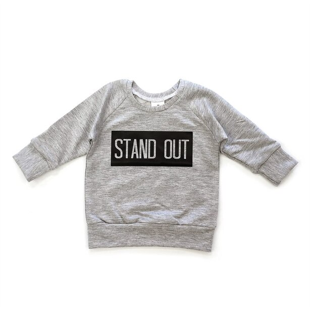 Posh & Cozy Crew Neck Sweater Stand Out Grey 6-12 Months