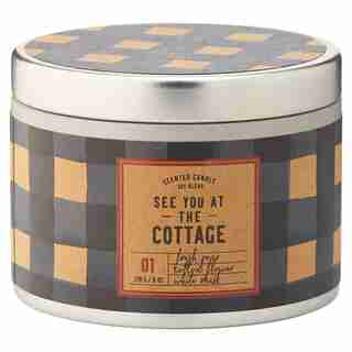 THE COTTAGE CANDLE - LARGE TIN
