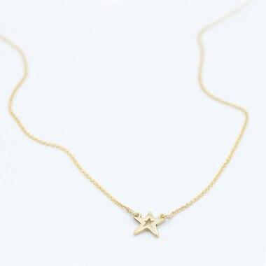 LITZI STAR NECKLACE - 10K GOLD