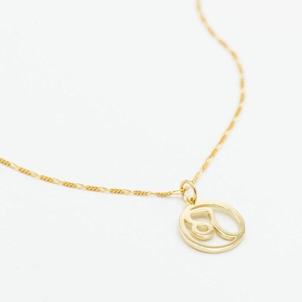 LITZI ZODIAC LEO NECKLACE - 10K YELLOW GOLD