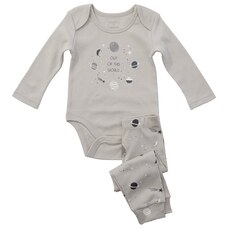 IndigoBaby x Pehr Onesie and Pant Set Galaxy 6-12 Months