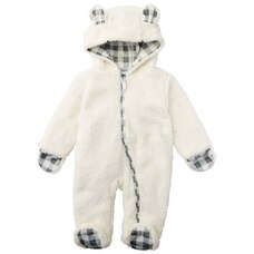 Sherpa Snuggle Suit Grey 0-6 Months
