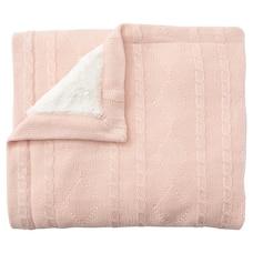 Knit Fur Blanket Blush